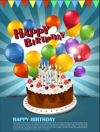 Amazing Cake Colorful Balloons Birthday Background Happy Birthday Cakes Funny Birthday Cards Online Inifofree Goldxyz