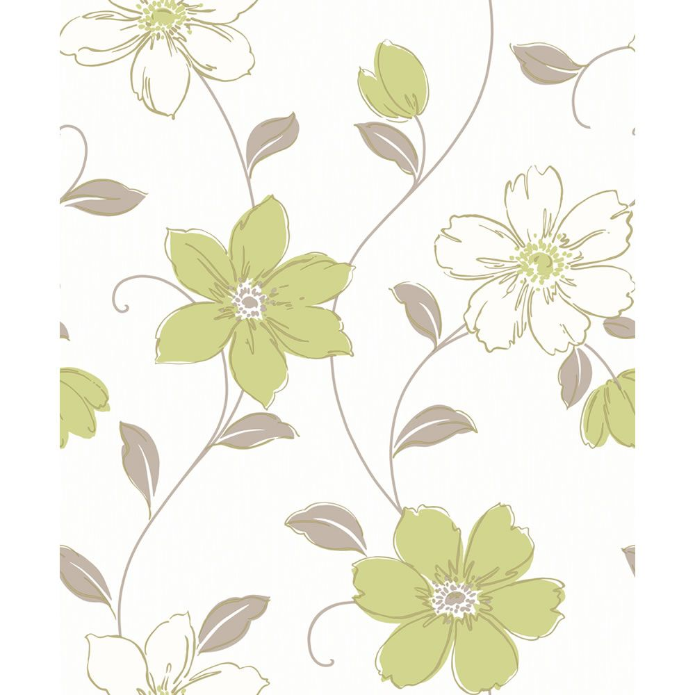 Arthouse opera blown vinyl anouska green wallpaper floral coloured wallpaper from - Teal wallpaper wilkinsons ...
