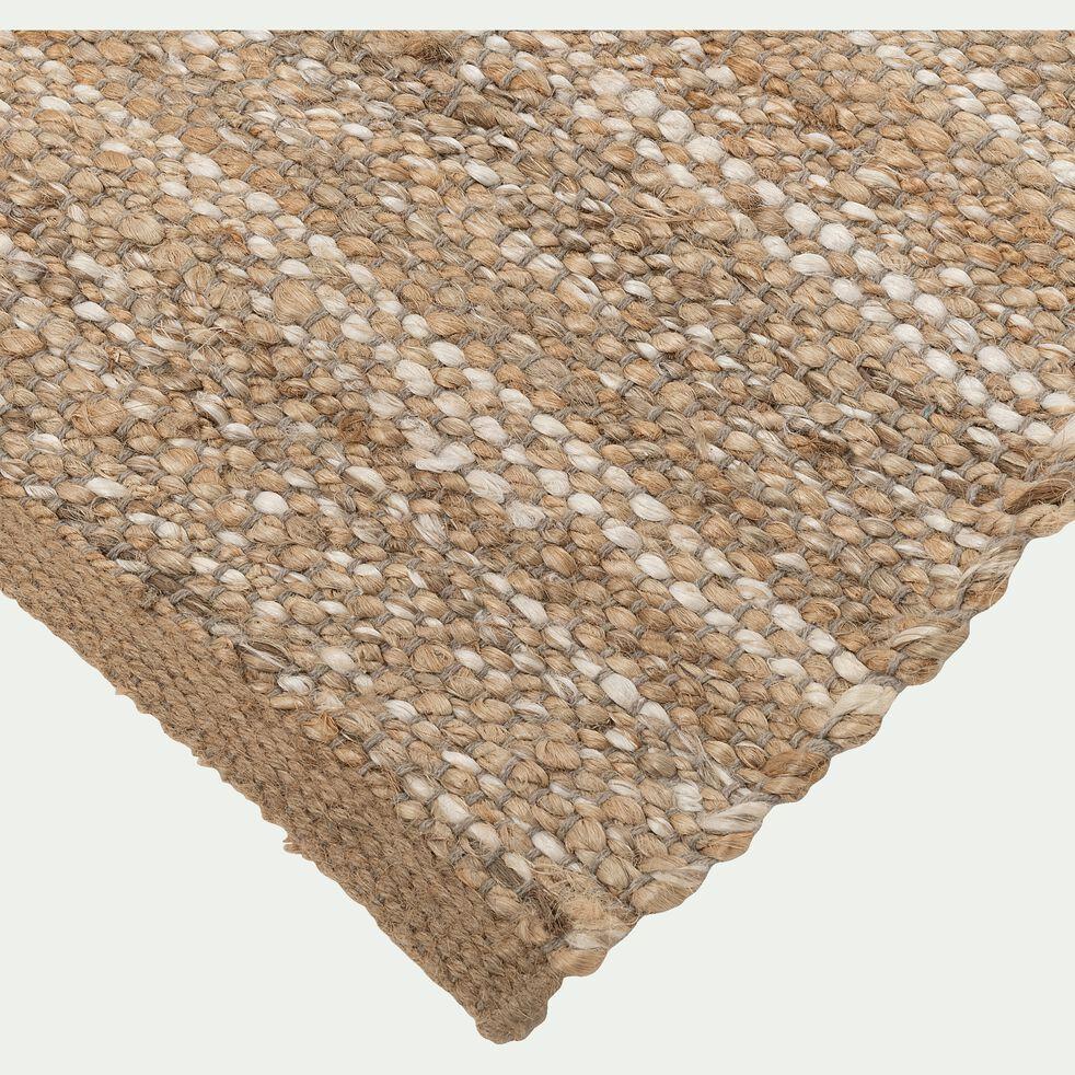 tapis tisse en jute et coton recycle