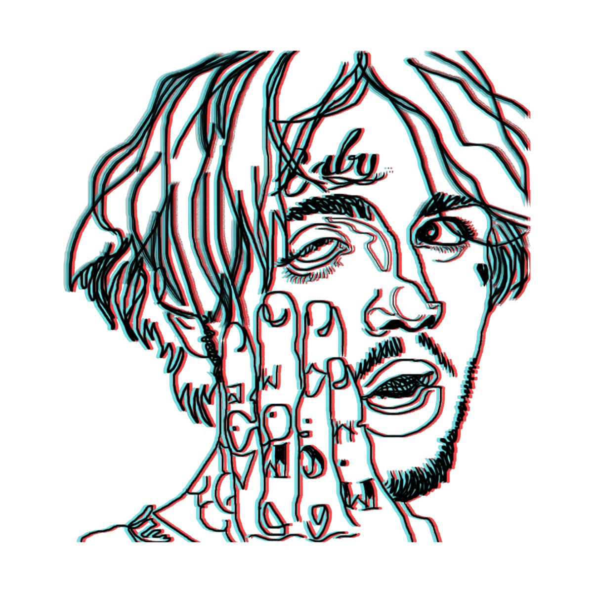 Lil Peep Monimiau16activity S Artist Shop In 2021 Rapper Art Trippy Painting Lil Peep Hellboy