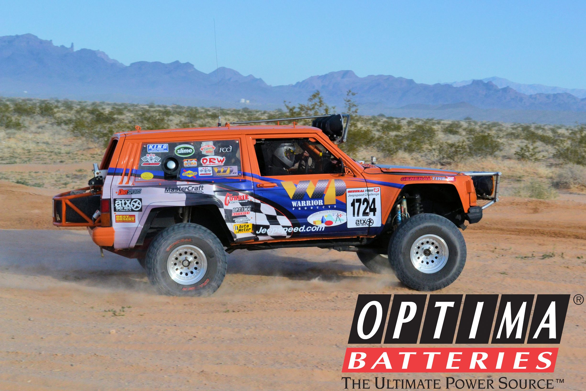 Team Wp Races Their Optima Sponsored Jeepspeed Entry In The Best In The Desert Series Trucks Jeep Jeep Xj