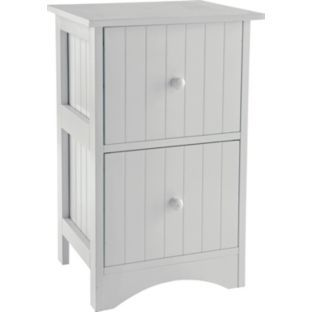 Buy tongue and groove 2 drawer storage unit white at for Bedroom units argos