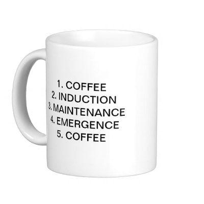 b7f852038f8 STAGES OF ANAESTHESIA 1. COFFEE COFFEE MUG | Zazzle.com | Anesthesia ...