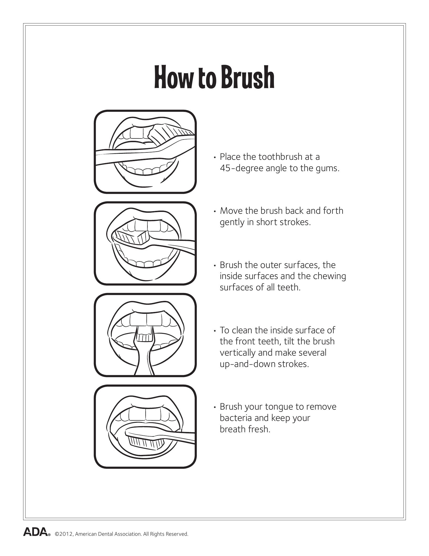 Dental Health Printable Worksheets