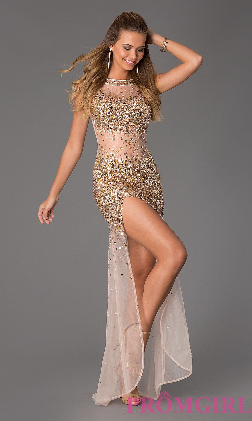 Black and gold dress prom girl
