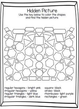1st Grade Math Identifying 2 Dimensional Shapes Teks 1 6d 1st