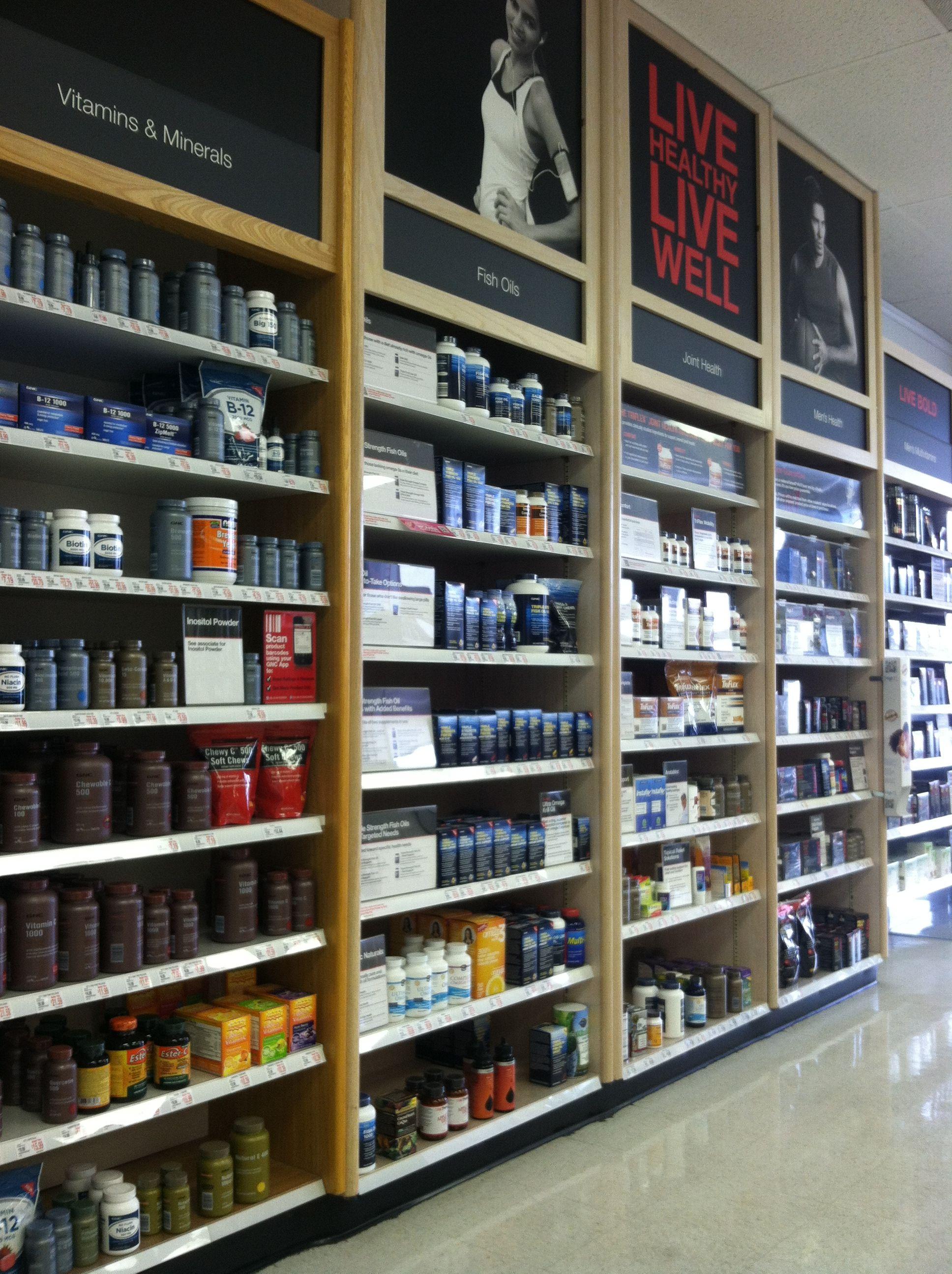 Gnc Store Branding Gnc Retail Design Store Design