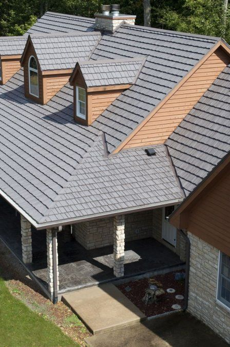 Weathered Wood Country Manner Shake Metal Roofing From Our Classic Aluminum Product Line Http Www Finalroo Solar Roof Solar Roof Shingles Metal Shingle Roof