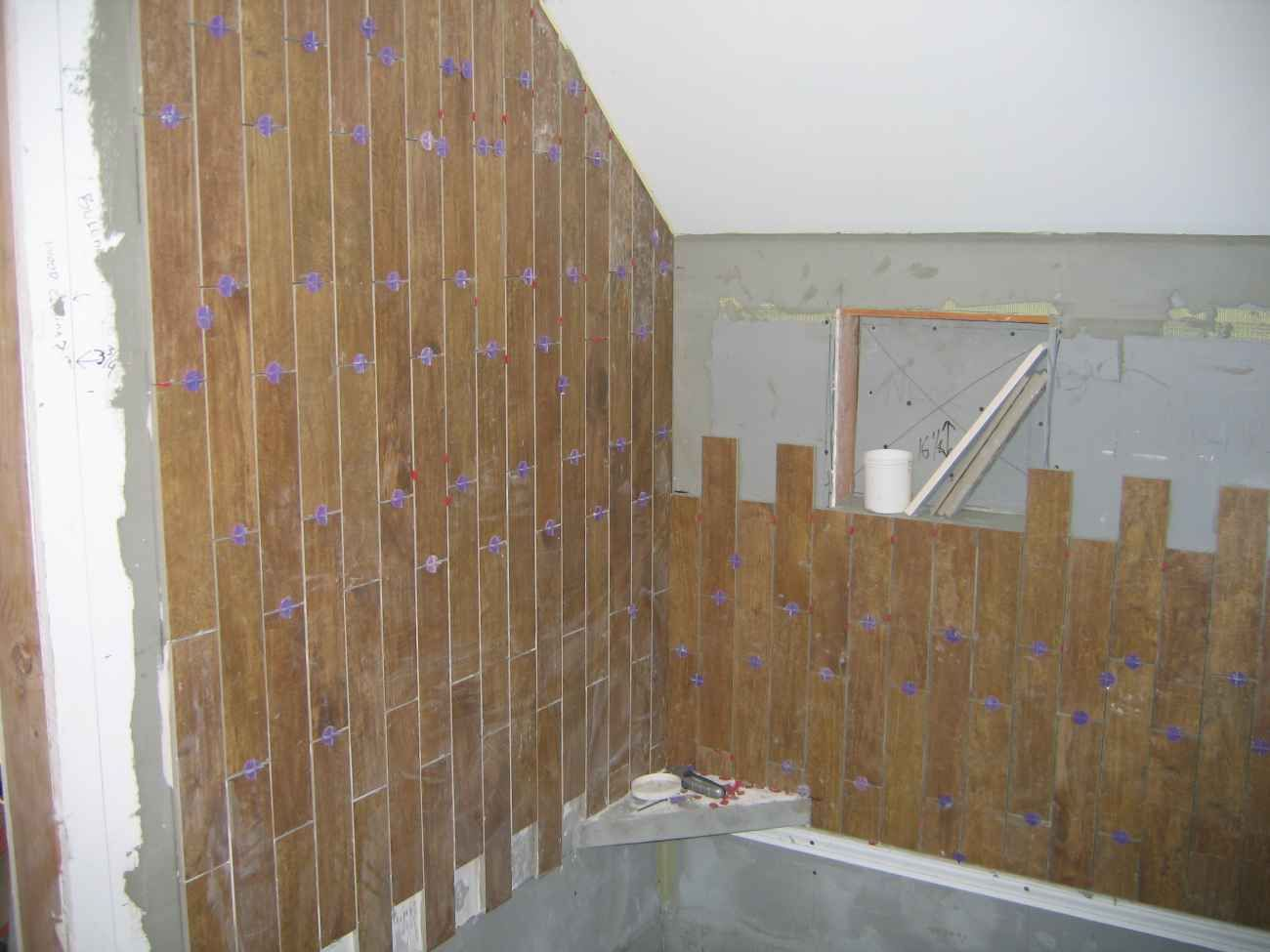 wood tile shower | Simple Wood Ceramic Tile for Bathroom Wall ...
