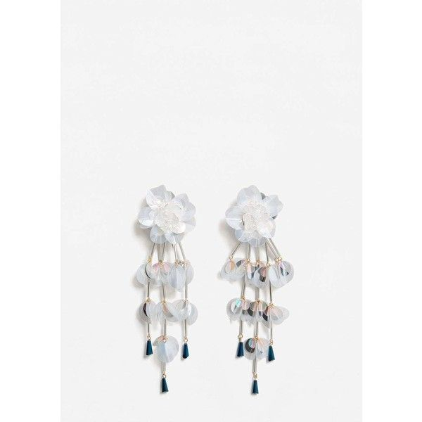 MANGO Sequin drop earrings (€27) ❤ liked on Polyvore featuring jewelry 9ba19d594729