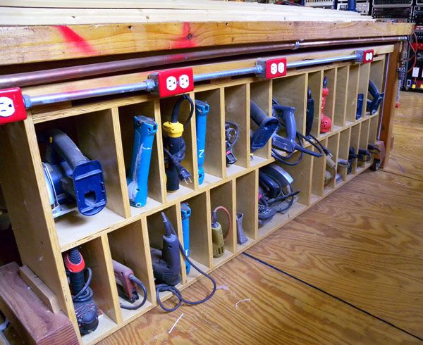 How To Transform Your Garage Into the Ultimate Home Workshop  Workshop  Organization. awesome workbench idea for DIY garage  tool organization   Garage