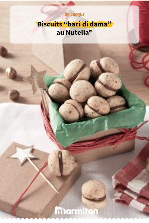 """""""baci di dama"""" au Nutella® Essayez cette recette facile de biscuits italiens aussi appelés"""