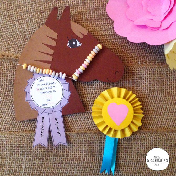 pferde party - einladungskarte - diy in 2020 | pferdeparty