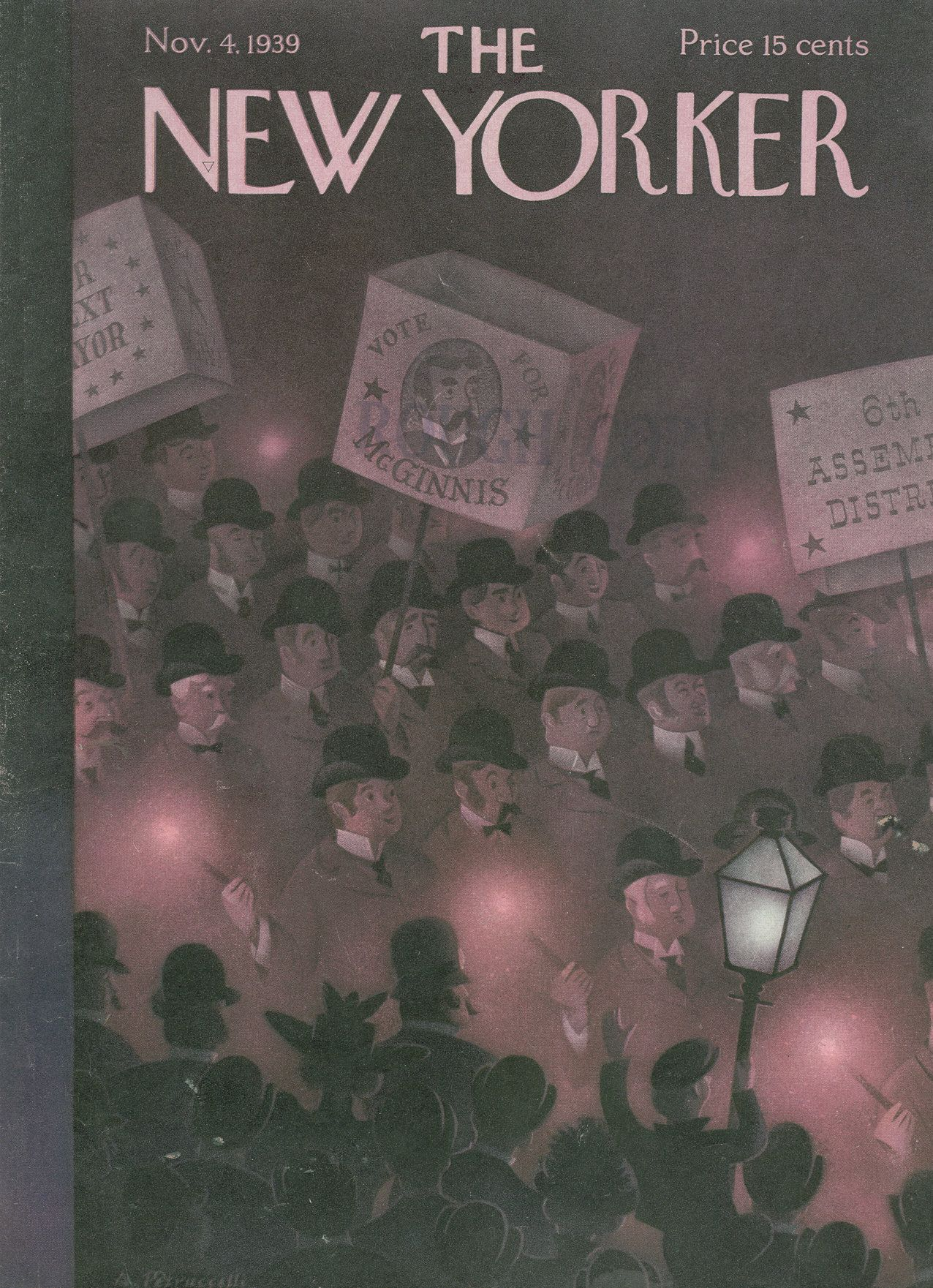 The New Yorker - Saturday, November 4, 1939 - Issue # 768 - Vol. 15 - N° 38 - Cover by : Antonio Petruccelli