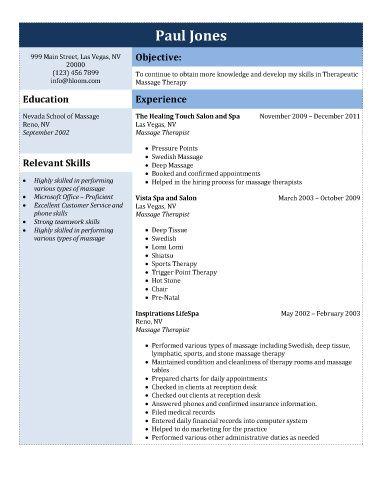 Generic-Therapeutic-Massage-Therapy @Yam yam to read massage - generic resume template