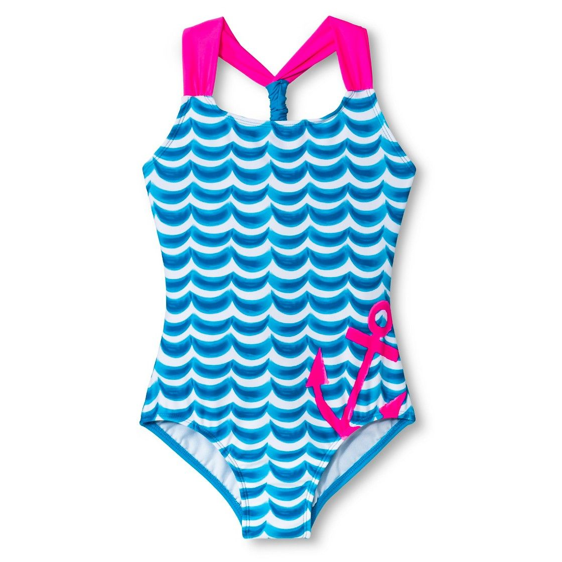 b78e1a5bd6adc Girls  1-Piece Anchor Swimsuit target