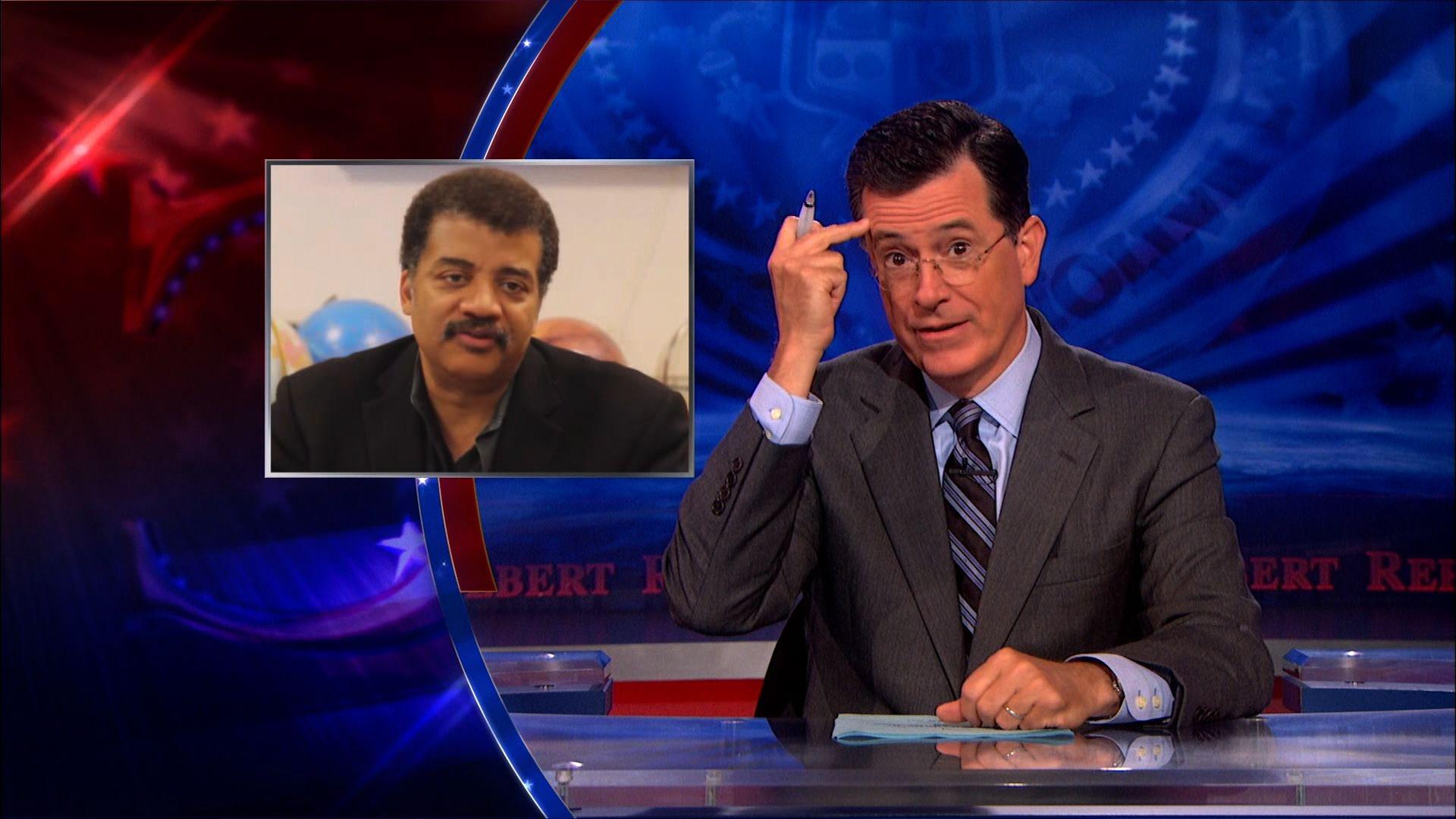 Stephen Colbert on Neil deGrasse Tyson's Alien Theory