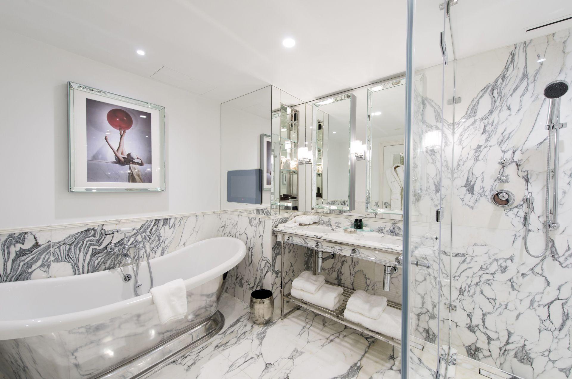 One Bedroom Suite Bathroom at The Wellesley Hotel in