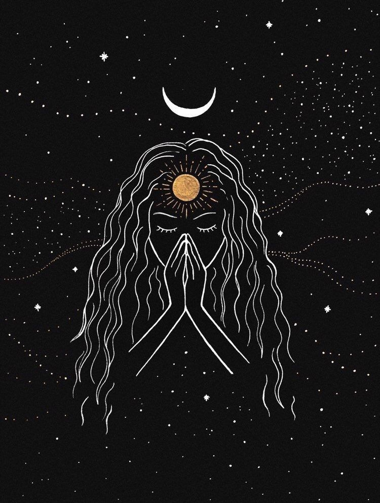 My Journey To Spirituality Moon Art Art Drawings