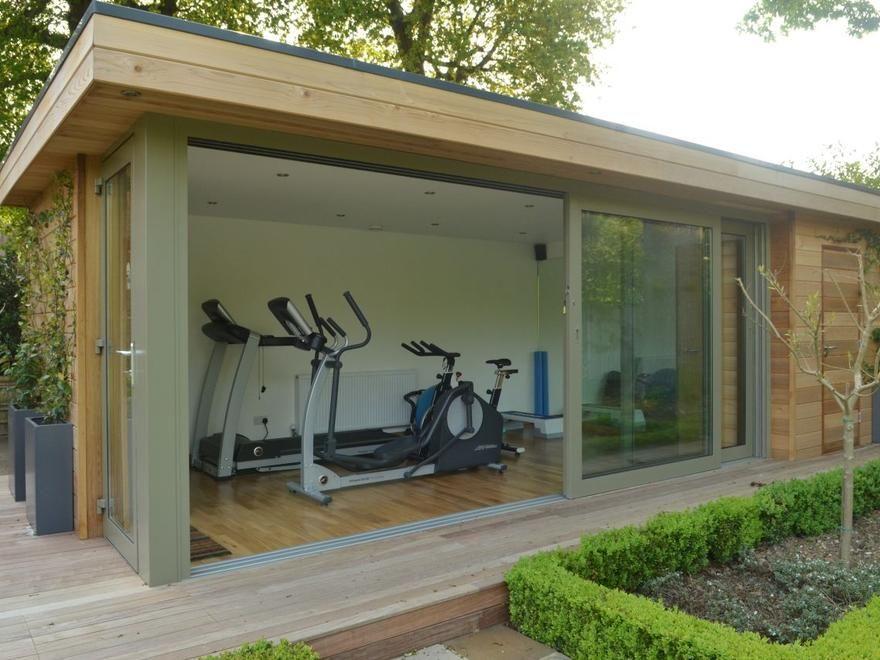 Personal Garden Gym Outdoor Gym Buildings Uk Exercise Studios The Garden Escape Gym Room At Home Gym Room Garden Room