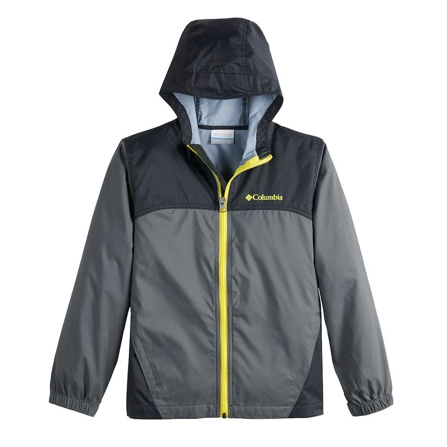 38b8df9a5 Boys 8-20 Columbia Glennaker Rain Jacket, Size: Medium, Dark Grey in ...