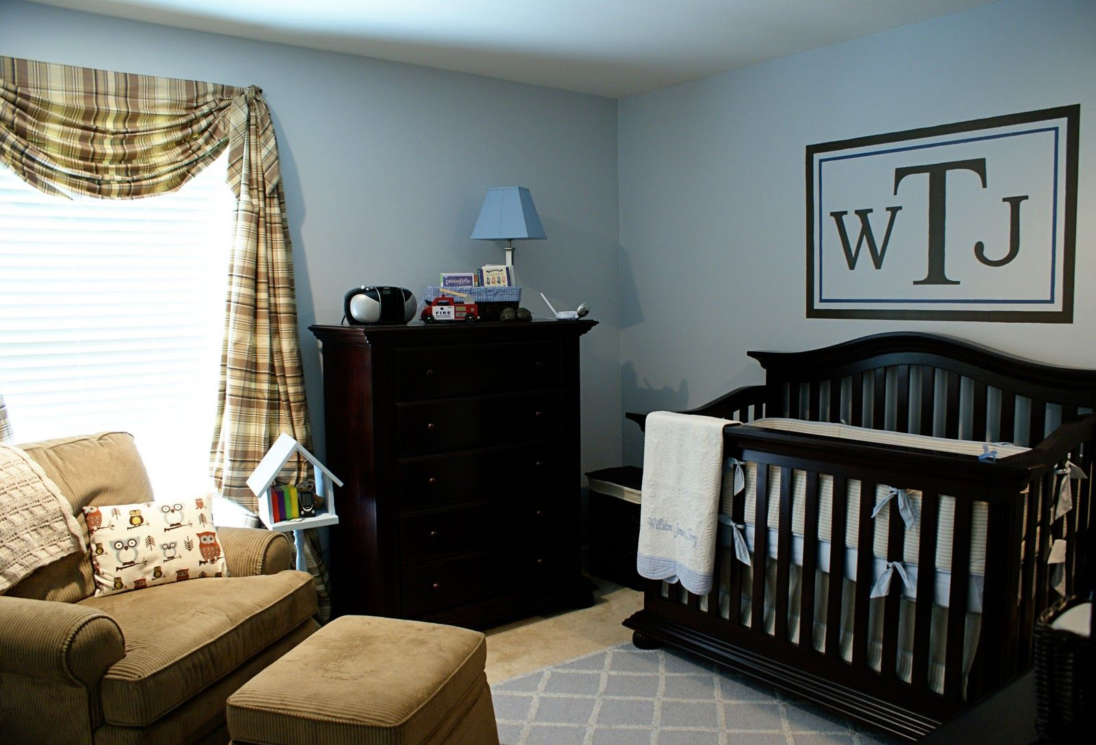 Room nursery on pinterest babies nursery nurseries and for Baby boy s room decoration