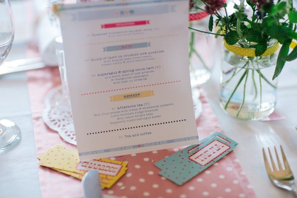 Fun Colourful Country Wedding Stationery http://mattbowenphotography.co.uk/