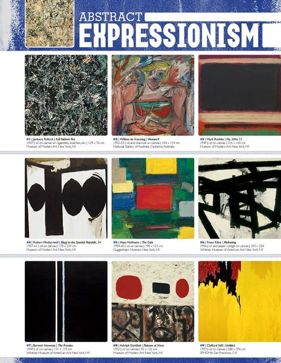 The smARTteacher Resource: ABSTRACT EXPRESSIONISM (Movement Binder