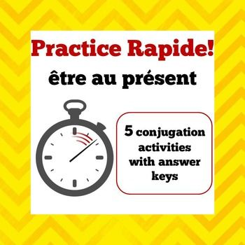 In this activity, students race to write the correct form of être ...