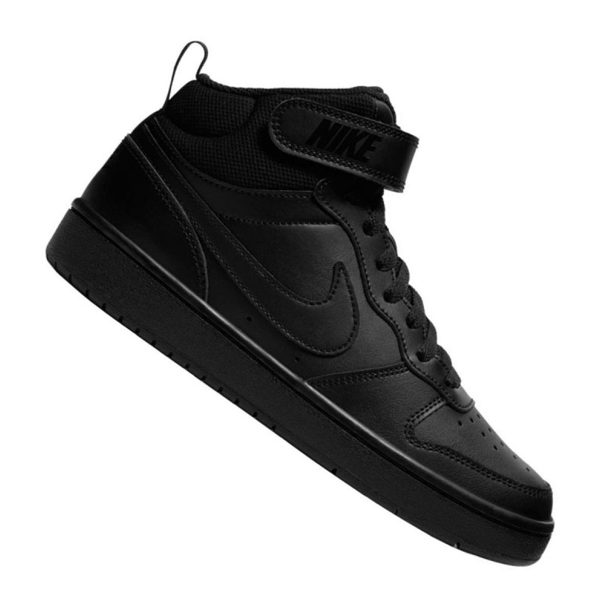 Buty Nike Jr Court Borough Mid 2 Gs Jr Cd7782 001 Czarne Black Shoes Junior Shoes Kid Shoes