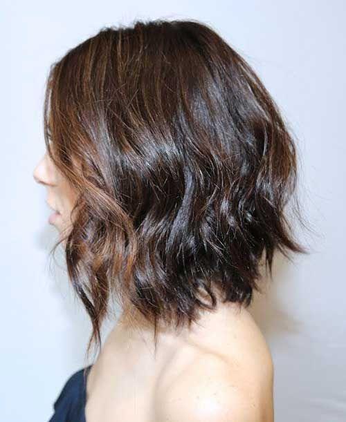 Shoulder Length Wavy Bob Haircuts