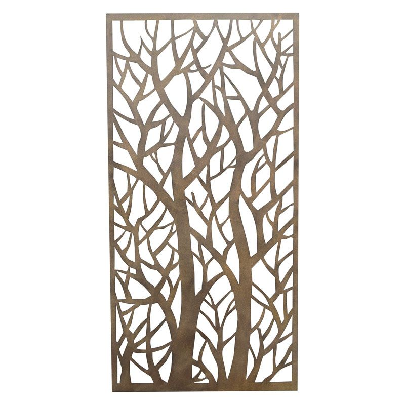 Garden Decor Screen: Forest Rusted Look Steel Screen @ Stratco