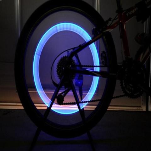 2Pcs Bike Bicycle Car Motorcycle Wheel Tire Valve Stem Cap Neon LED Light Lamp b