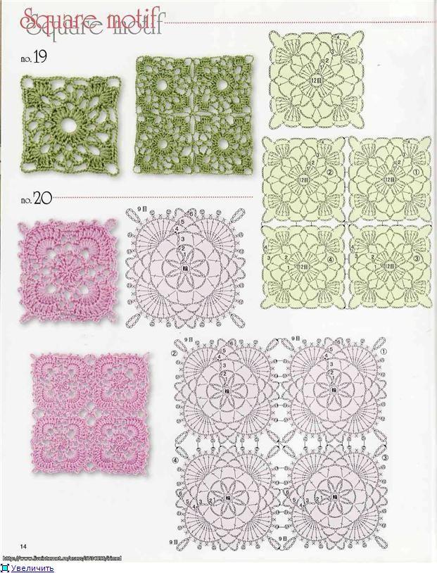 motivos | -::- Crochet stitches & motivs -::- | Pinterest | Esquemas ...
