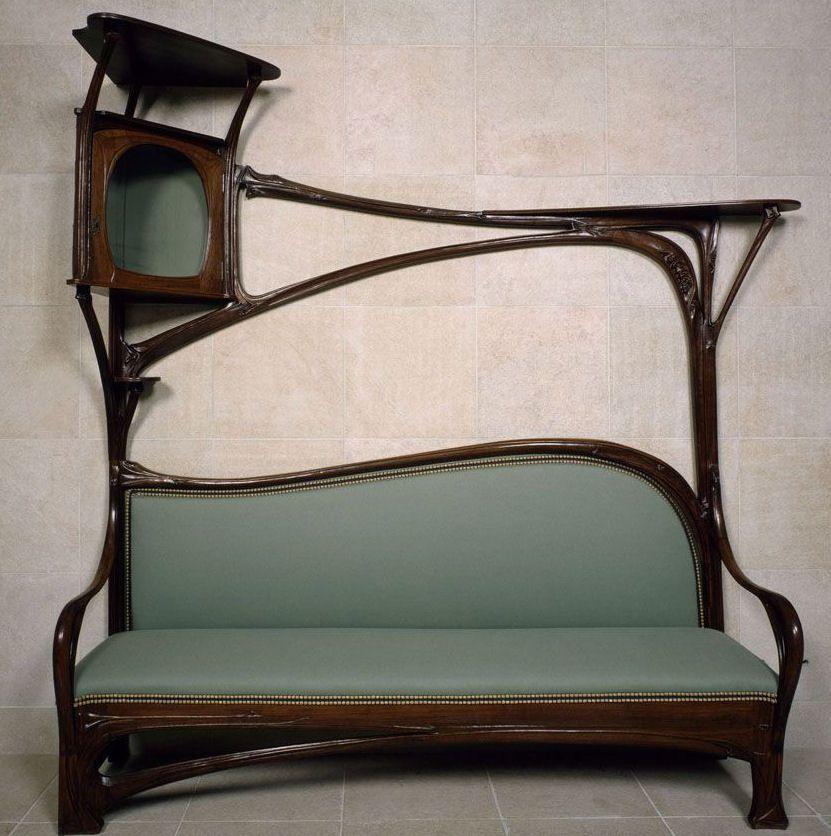 hector guimard banquette de fumoir art nouveau house of dream pinterest art nouveau. Black Bedroom Furniture Sets. Home Design Ideas