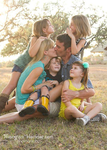 large family pose