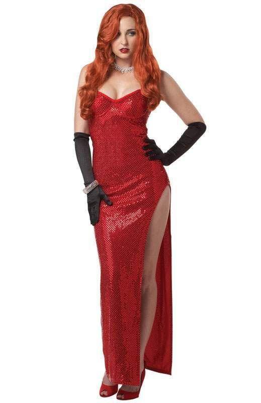 Jessica Rabbit Red Dress Adult Halloween Costume SML (6-12)  sc 1 st  Pinterest & Jessica Rabbit Red Dress Adult Halloween Costume SML (6-12 ...