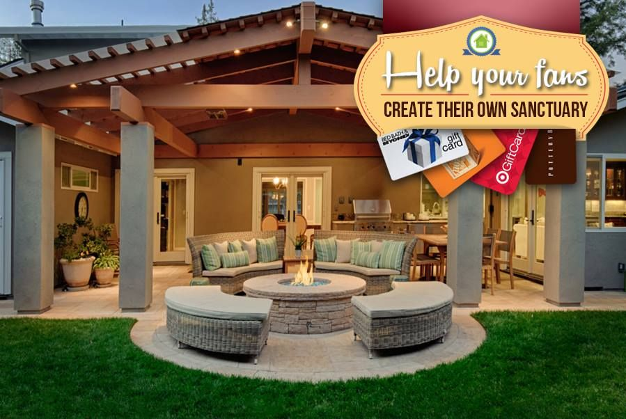 Agents, give your fans opportunities each month to win prizes so they can build their perfect at-home sanctuary!  With Dream Sweeps, you get page likes from each new fan who enters your sweepstakes. We pay for the prizes and you get the benefits!