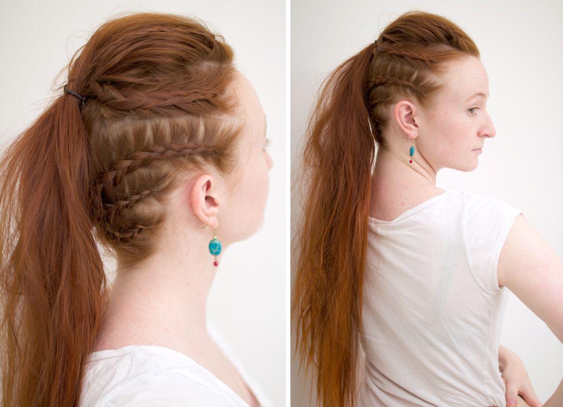 Lagertha Vikings Warrior Ponytail Silvousplaits Hairstyling Viking Hair Lagertha Hair Hair Styles
