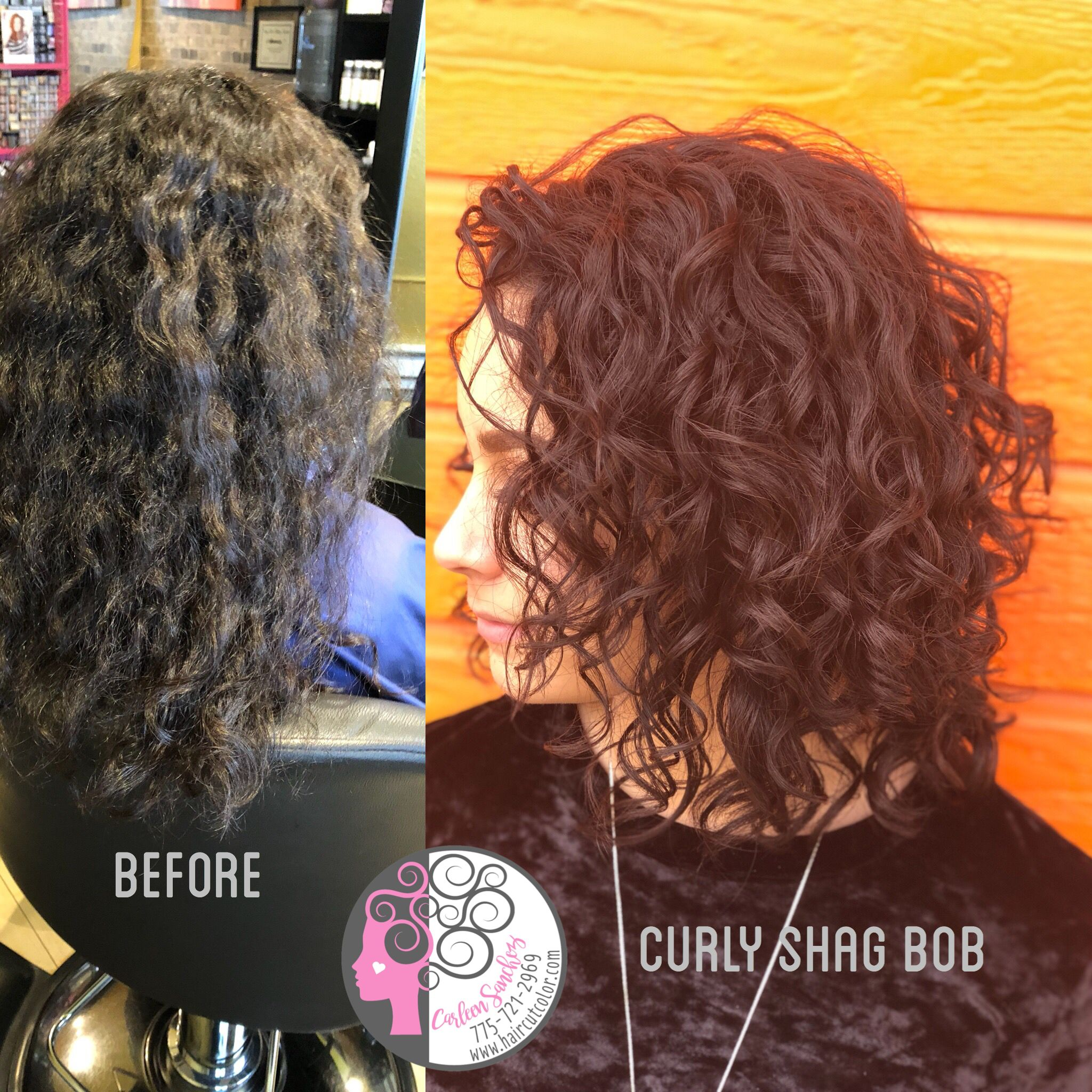 Naturally Curly Shag Bob Haircut By Carleen Sanchez Check Out Www Haircutcolor Com For Ton Curly Hair Styles Naturally Medium Curly Haircuts Curly Hair Styles