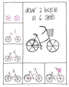 Desenho Simples Bicicleta Diy Step How To Paint Easy Drawings Journal Doodles Drawing For Kids