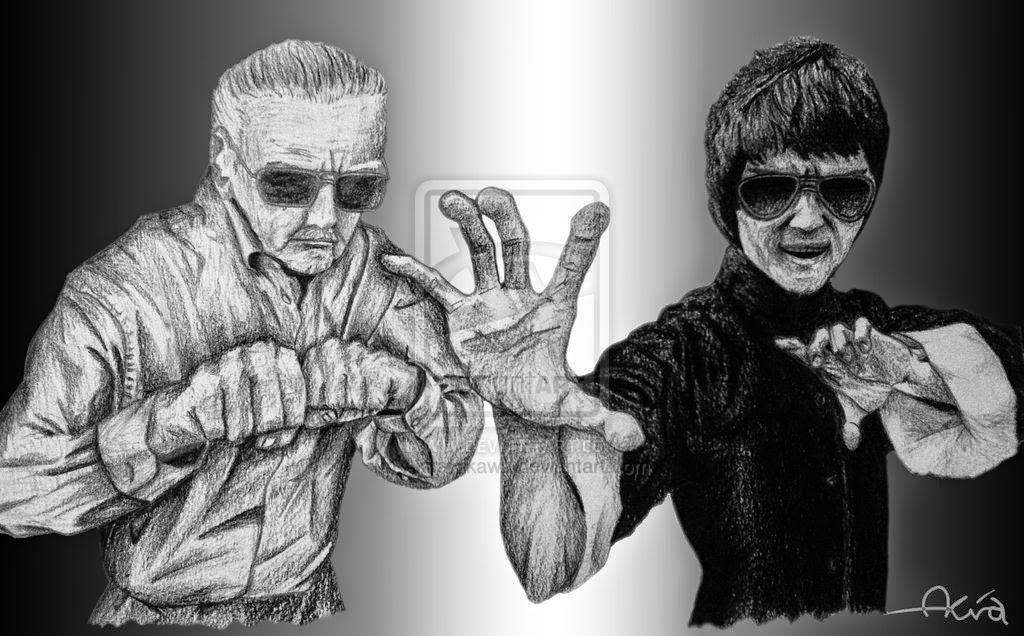 Stan et Bruce Lee © Akira Hikawa
