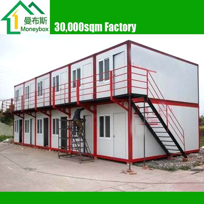 2 floor duplex prefabricated steel frame shipping for Prefab duplex homes