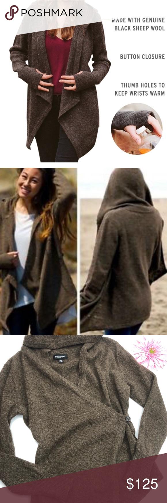 Betabrand Black Sheep Wrap Sweater Cardigan: Brown | Wrap