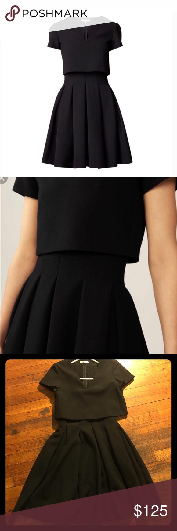 Maje Fit And Flare Little Black Dress Black Dress Little Black Dress Dresses [ 1740 x 580 Pixel ]
