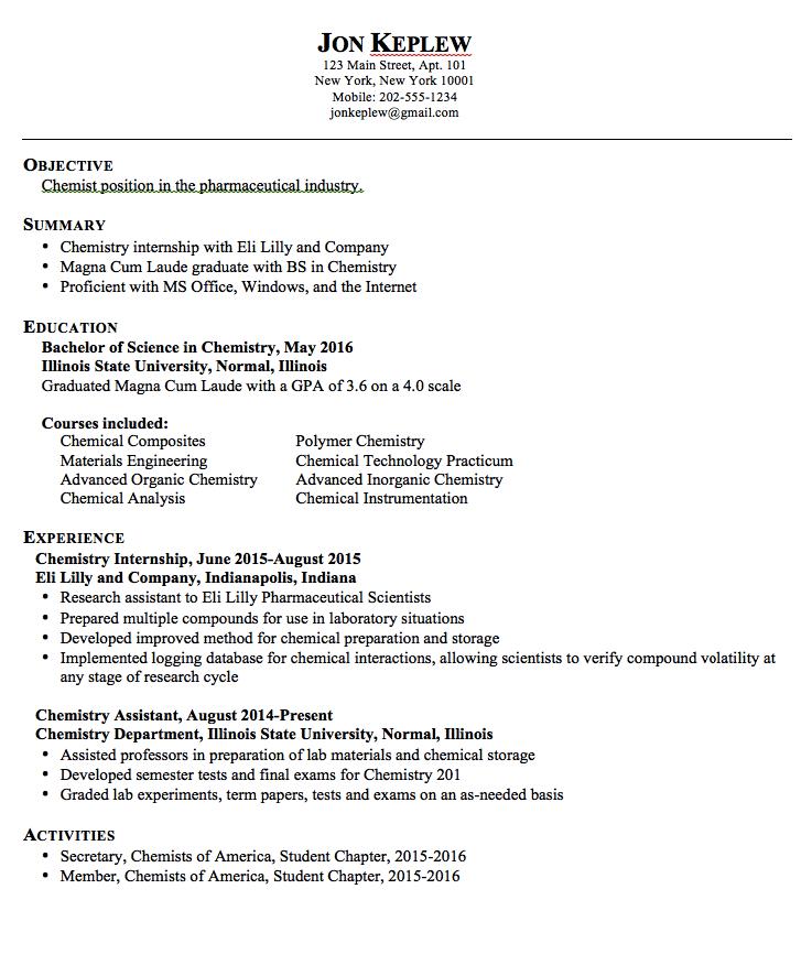 Chemist Pharmaceutical Resume Sample Examples Resume Cv Resume Resume Examples Pharmaceutical