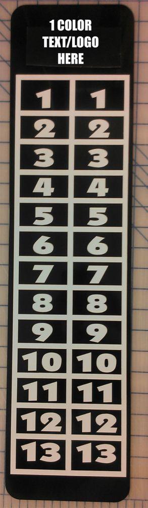 Details About Custom Logo Text Petanque Scoreboard Team