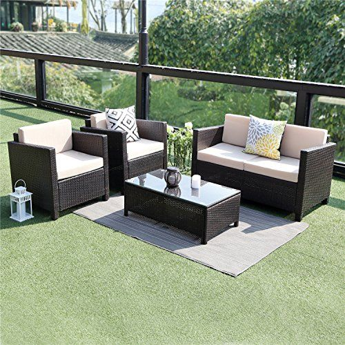 Wisteria Lane Outdoor Patio Furniture Set 5 Piece Conversation