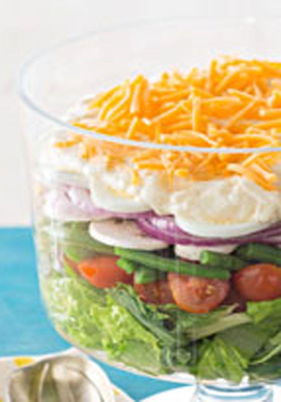 Lovely Layered Salad Recipe Layered Salad Kraft Recipes Recipes