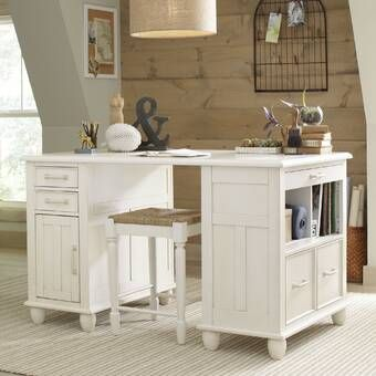Alcott Hill Madelynn Executive Desk Reviews Wayfair Craft Desk Craft Room Office Craft Room Design